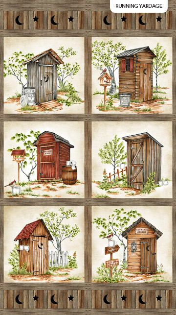 Natures Calling 24034 12 2 Row Repeat Outhouses Northcott
