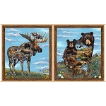 Artworks Moose and Bear 26986 X Panel, Quilting Treasures