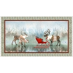 Lake Caribou 27079 X Nordic Deer Panel, Quilting Treasures