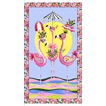 Flamingo Fantastico 27382 X Flamingo Panel, Quilting Treasures