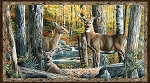Hidden Valley Deer 30176 259 Panel, Wilmington Prints