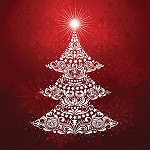 Gradients Holiday 33430 12P Red Tree Digital Panel 60 x 60, Moda