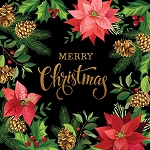 Gradients Holiday 33431 14P Black Christmas Digital Panel 60 x 60, Moda