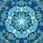 Gradients Kaleidoscope 33438 11P Blue Digital Panel, Moda