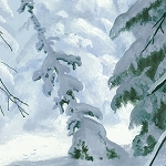Whispering Winter 38525 149W Double Panel Winter Scene, Wilmington Prints