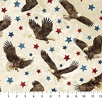 Stonehenge Stars and Stripes VII 39436 30 Eagles Cream, Northcott
