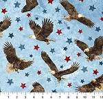 Stonehenge Stars and Stripes VII 39436 42 Eagles Blue, Northcott
