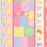 Sleepy Time Flannel 1402-19 Pink Stripe