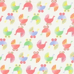Sleepy Time Flannel 1402-20 Pink Buggies