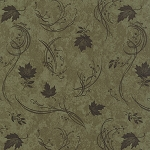 Maple Island 6614 15 Woodland Green Leaf Swirl, Holly Taylor by Moda