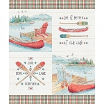 Lake Moments Digital 36 Inch Lake Panel, Camelot Fabrics
