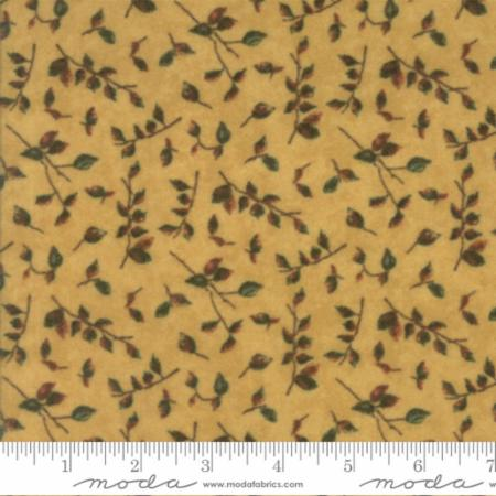Endangered Sanctuary Flannel 6652 16F Golden Oak Mini Leaves, Holly Taylor by Moda