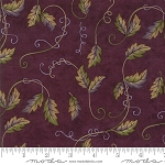 Fresh Off the Vine 6764 12 Leaves Vines Purple, Holly Taylor by Moda