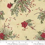 Winter Manor 6771 12 Floral Tan, Holly Taylor by Moda