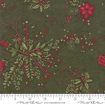 Winter Manor 6771 14 Floral Green, Holly Taylor by Moda
