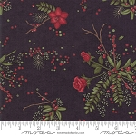 Winter Manor 6771 17 Floral Black, Holly Taylor by Moda