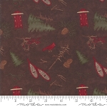Frosted Flannels 6781 18F Park Dark Brown, Holly Taylor by Moda
