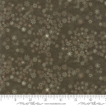 Frosted Flannels 6784 12F Snowflakes Dark Green, Holly Taylor by Moda