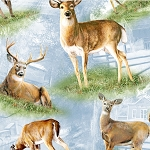 South Sea Friendly Visitors 90206 427 Deer Allover Blue