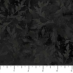 Essence Tonal Leaves 9025 99 Black, Northcott