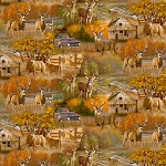 Fall Country Deer AL37519C1 Digital, David Textiles