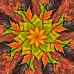 Dream Big Leaf Digital Panel R4617 66 Autumn, Hoffman