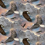 Soaring Over Mount Rushmore WW31229C1 Digital, David Textiles