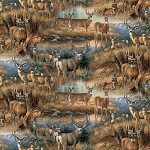 Multi Deer Glance WW31468C1 Digital, David Textiles