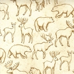 Kaufman Copper Ridge 9147-15 Ivory Wildlife
