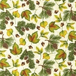 Pine Ridge Multi Leaves 11240 15 Ivory Kaufman