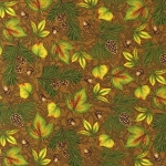 Pine Ridge Multi Leaves 11240 16 Brown Kaufman