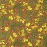 Pine Ridge Flannel Multi Leaves 11240 169 Earth Kaufman