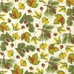 Pine Ridge Flannel Multi Leaves 11240 84 Cream Kaufman