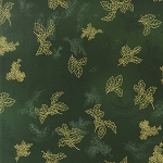 Holiday Flourish 6 13638 224 Evergreen Hollyberry Leaves by Kaufman