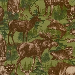Timber Lodge Flannel 12622 268 Nature Animals, Kaufman