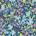 Alaskas National Parks Digital 3026 Wild Flowers, Jon Van Zyle by P & B Textiles
