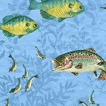 A Lazy Afternoon 35674 407 Fish Allover Light Blue, Wilmington Prints