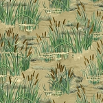 A Lazy Afternoon 35676 272 Cattails Allover Tan, Wilmington Prints
