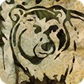 Wildlife Sanctuary 5 Batik 17777 49 Olive Bear, Kaufman