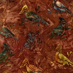 Wildlife Sanctuary 5 Batik 17779 179 Rust Bird, Kaufman