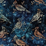 Wildlife Sanctuary 5 Batik 17779 9 Navy Bird, Kaufman