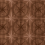 Among The Pines 82405 222W Compass Rose Tonal Brown, Wilmington