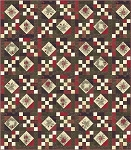 Winter Manor Quilt Kit, Antler Quilt Design by Moda