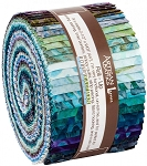 Aqua Spa 3 Batik Jelly Roll Strips, Kaufman