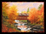 Autumn by the Creek Digital Panel 3044, P & B Textiles