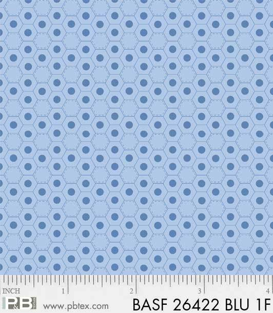 Basically Hugs Flannel 26422 Blue Hexies, P and B Textiles