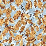 Before the Frost 56014 452 Autumn Foliage Blue, Wilmington Prints