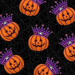 Black Magic 9678 99 Pumpkin Crowns Black, Henry Glass