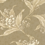 Moda Blackbird Designs Blueberry Crumb Cake 2680 19 Crumb Crust Large Floral Tan