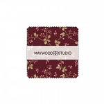 Burgundy and Blush Charm Squares, Maywood Studio